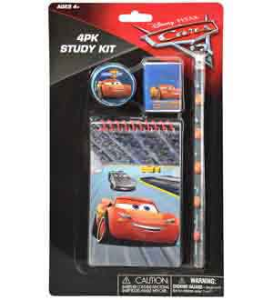 Disney Cars 3 Study Kit 4pk 10.5x6x0.50
