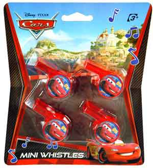 Cars 4ct Mini Whistle