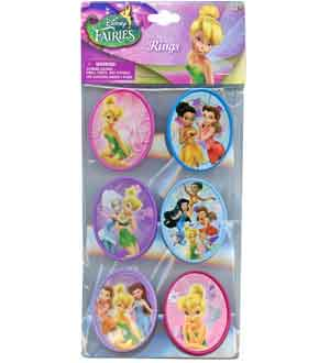 Tinkerbell Fairies Cupcake Topper Rings